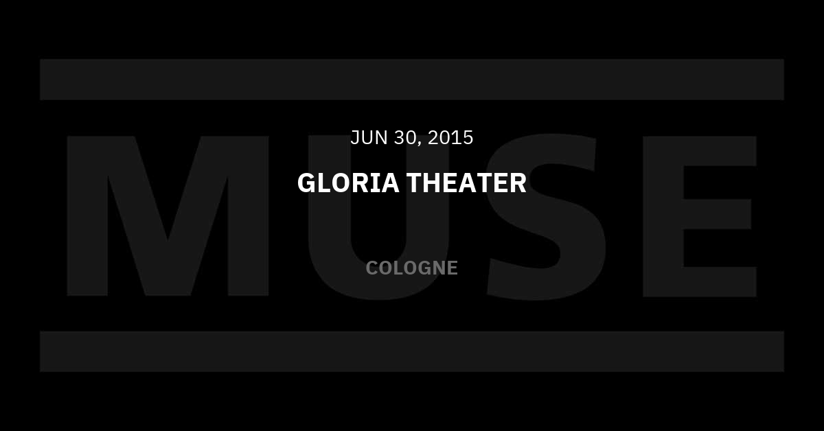 Muse Köln Tickets
